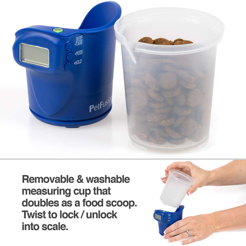 PetFusion Digital Food Scale & Scoop for Dry Dog Food & Cat Food - PetFusion