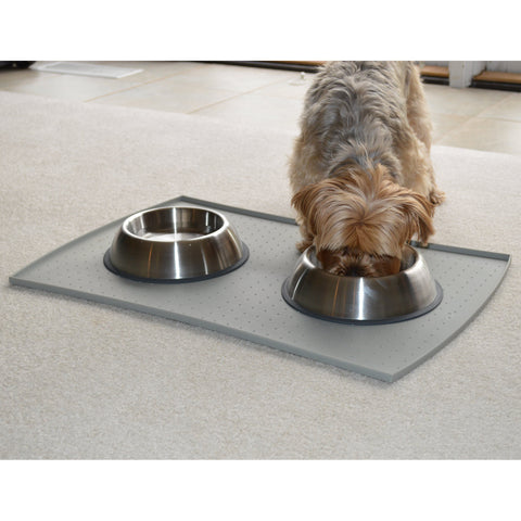 PetFusion Premium Brushed Anti-tip Dog & Cat Bowls, Set of 2. [FOOD GRADE SS, Bonded silicone ring] - PetFusion