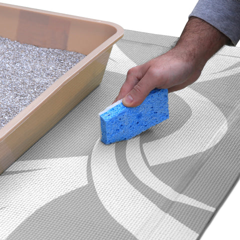easy to clean litter mat