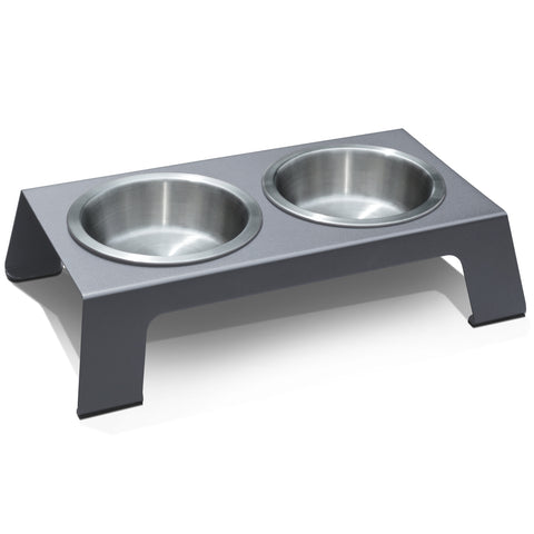 PetFusion Raised Pet Feeder in Premium Anodized Aluminum - PetFusion