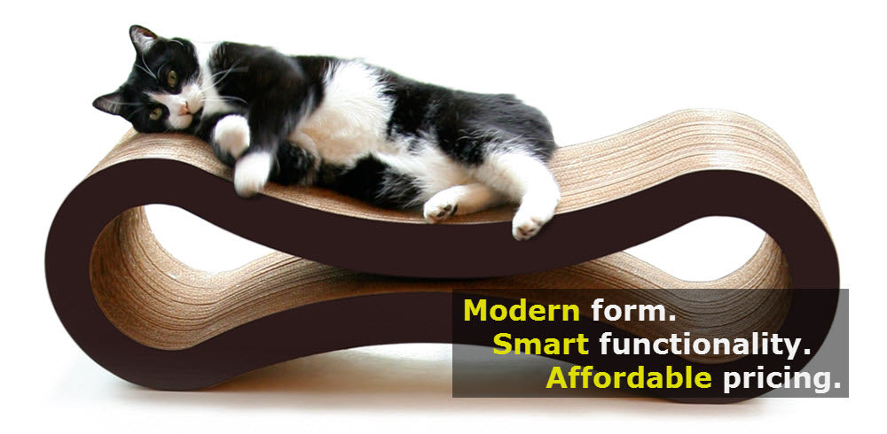 modern cat scratcher lounge