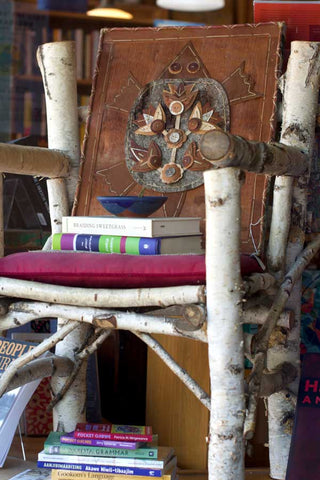 Birch Chair with Books