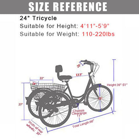 24in trike size reference