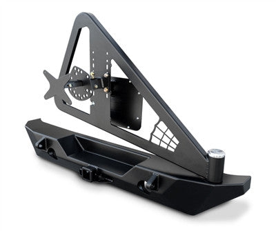 Poison Spyder JK RockBrawler II Rear Bumper - Tire Carrier - Black