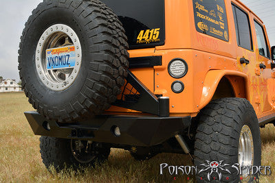 Poison Spyder JK Rock Brawler II Rear Bumper with Tire Carrier