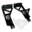 "KD Fabworks 20"" LED light bar bumper brackets - 99.5-04 Ford Superduty F250/F350/Excursion"