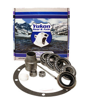 "Yukon Bearing installation kits are perfect for shops & builders who have shims on the shelf and are looking to save cost over a Master Overhaul kit. This kit uses carrier bearings & races with an I.D. of 2.000"" and an O.D. of 3.250"".  This kit uses Timken bearings and races along with all high quality small parts. kit includes carrier bearings and races, pinion bearings and races, pilot bearing, pinion seal, crush sleeve (if applicable), oil baffles and slingers (if applicable), marking compound and brush. Yukon does extensive research for each application to make sure your kit will arrive with all the correct parts you need to install your ring & pinion set."