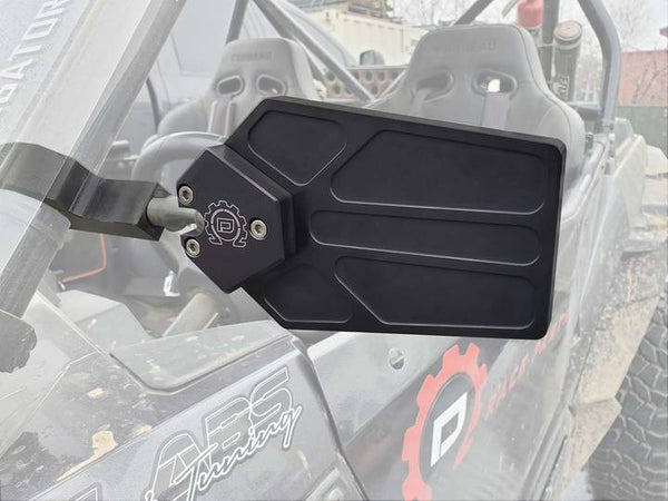 "Deviant Billet Side Mirrors for 1.75"" Tube"