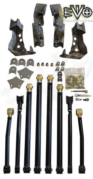 EVO MFG Jeep JK High Clearance Long Arm Kit