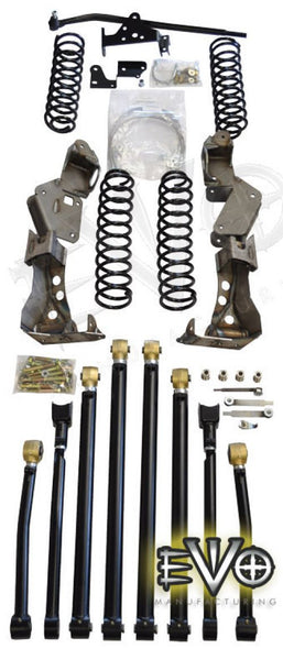 "EVO MFG Jeep JK 4"" Lift Kit Double D Bolt On Long Arm"