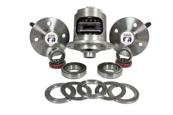 79-93 Mustang 28 spline 5-LUG C/clip axle kit w/ Dura Grip positraction, two axles, axle bearings & seals, carrier bearings & races and Supershim kit.