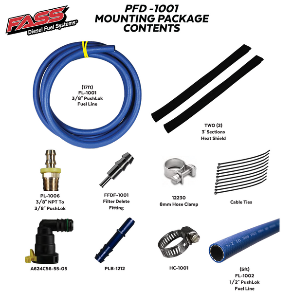 FASS - POWERSTROKE FILTER DELETE KIT
