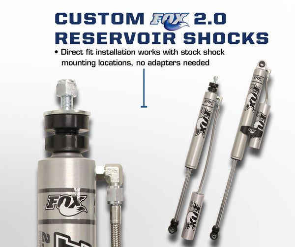 "Carli Ford 2.5"" Leveling Backcountry 2.0 Shock Package 17+"