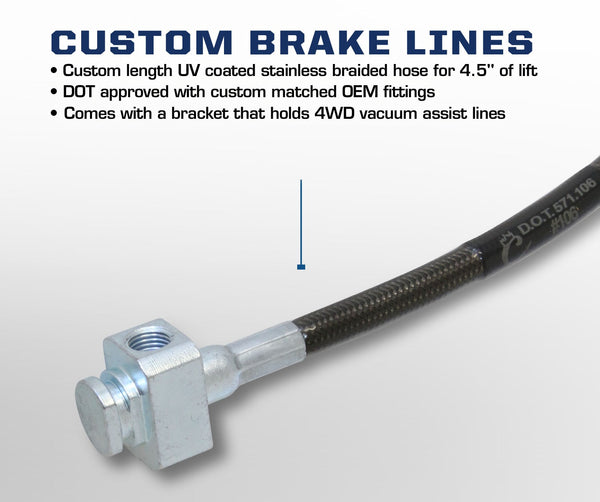 Carli Ford Stainless Braided Brake Lines 05-16