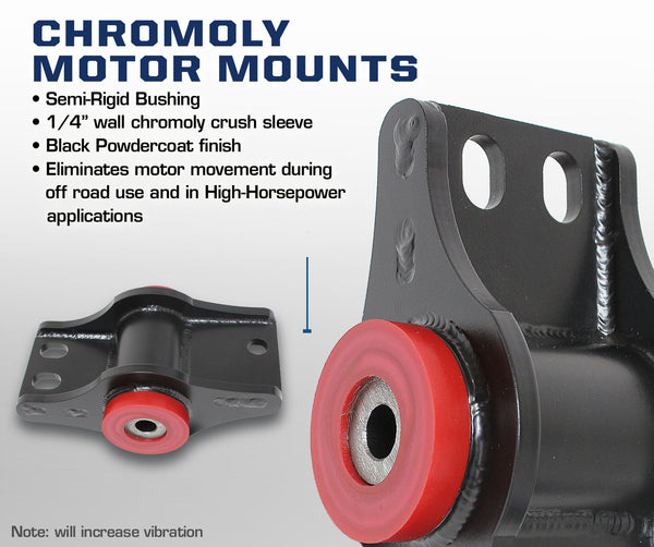 Carli Dodge Chromoly Cummins Motor Mounts 03-07
