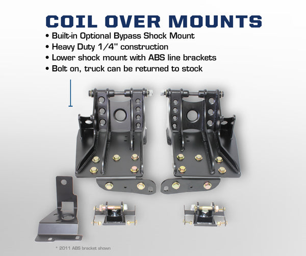 Carli Ford Coil Over Shock Mounts 05-16