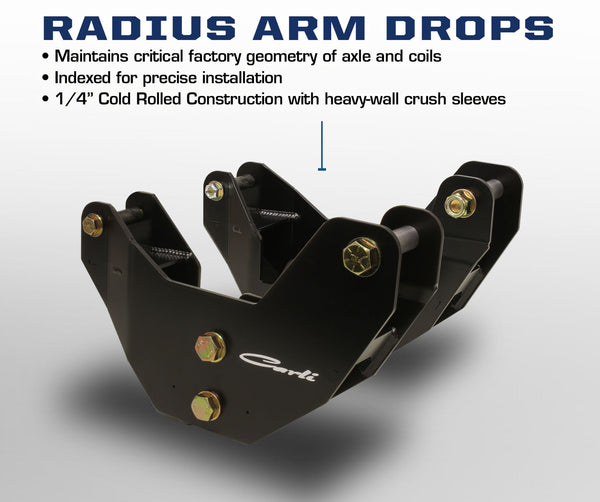 Carli Dodge 2014+ Radius Arm Drops