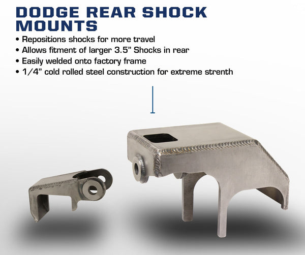 Carli Dodge Rear Shock Mounts 03-13
