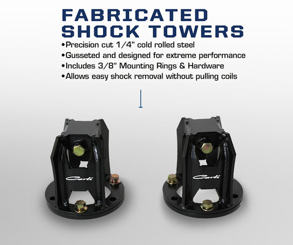 Carli Dodge Fabricated Shock Towers 03-13