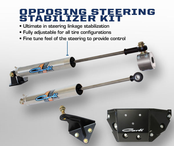Carli Dodge Opposing Stainless Steering Stabilizer Kit 03-13