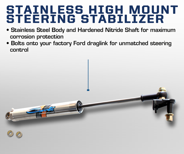 Carli Ford High Mount Steering Stabilizer 17+