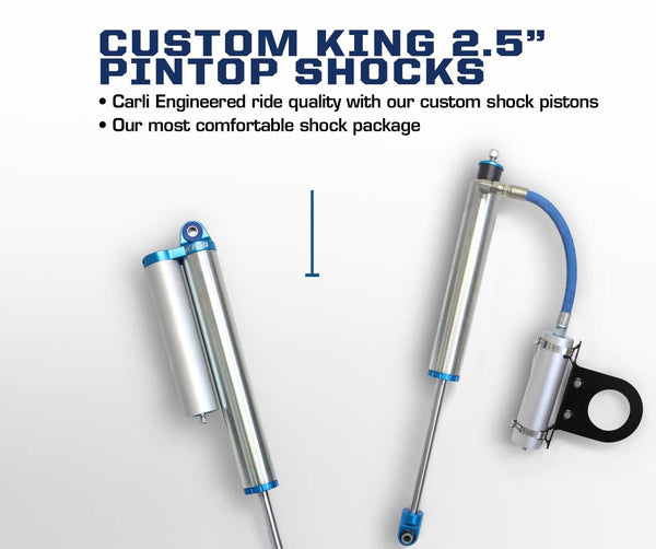 "Carli Ford 2.5"" Leveling Pintop 2.5 Shock Package 05+"