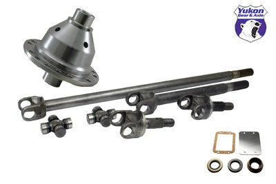 Yukon 30 spline 4340 Chrome-Moly axle & Grizzly Locker kit for Jeep TJ, XJ, YJ & ZJ. This kit contains a 4340 Chrome-Moly axle kit, Grizzly locker (fits 3.73 & up), disconnect block-off kit & a Yukon Zuper Joint kit.