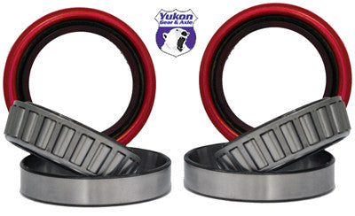 Yukon replacement axle bearing & seal kits are specially designed for each application & use all high quality bearings & seals.     Axle bearing and seal kit for '59 to '77 Dana 44 and Ford 3/4 ton front axle. This kit includes Timken inner and outer bearings and races along with high quality seals. Unit is sold per side and is covered for one year against manufacturing defects. This axle bearing & seal kit services one side only.