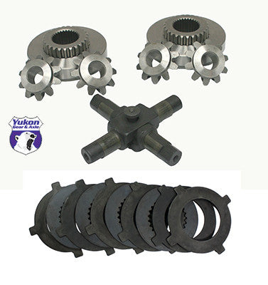 Yukon replacement positraction internals for Dana 70 (full-floating only) with 32 spline axles. Yukon uses higher quality materials and better techniques than OEM to ensure a longer lasting spider gear set. This kit includes clutches. All components come with a one year warranty against manufacturing defects.