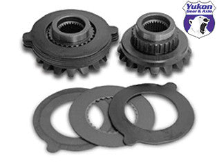 Yukon replacement spider gear kit for Dana 44 trac loc posi, 30 spline. Yukon uses higher quality materials and better techniques than OEM to ensure a longer lasting spider gear set. All components come with a one year warranty against manufacturing defects.