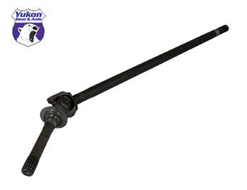 "Yukon left hand front axle assembly for '03-'08 Chrysler 9.25"" front. Yukon axles come with a one year warranty against manufacturing defects. This assembly uses a 1485 u/joint."