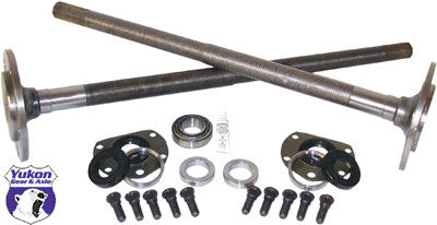 One piece short axles for Model 20 '76-'3 CJ5, and '76-'81 CJ7 with bearings and 29 splines, kit. Yukon 1541H alloy axles come with a five year warranty against manufacturing defects. These axles will not work with an Auburn Ected or a factory Powr Lok posi with two piece side gears.