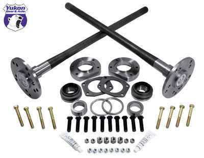 Ultimate 88 axle kit 95-02 Explorer, 4340 Chrome-Moly (Double drilled axles). The Yukon Ultimate 88 kit eliminates the factory c-clips and converts your housing to use two 4340 Chrome-Moly bolt in axles. No welding is needed, just a little cutting to remove the factory axle bearing seat. The result is a super strong setup to give you years of hard use on the trail! Yukon 4340 Chrome Moly alloy rear axles come with a limited lifetime warranty against manufacturing defects.