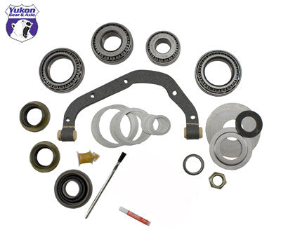 Yukon Master Overhaul kits give you all the high quality parts you need to start & finish every differential job. Yukon offers more tailor-made kits than any other manufacturer in the industry to meet your specific installation needs.   This kit uses Timken bearings and races along with high quality seals and small parts. Included in this kit are carrier bearings and races, pinion bearings and races, pinion seal, complete shim kit, pinion nut, crush sleeve (if applicable), oil baffles and slingers (if applicable), Thread locking compound, and marking compound with brush. Yukon's Master Overhaul kits are the most comprehensive and complete kits on the market. They do extensive research to ensure that every kit is specially tailored to your application.  This kit does not include ring gear bolts.