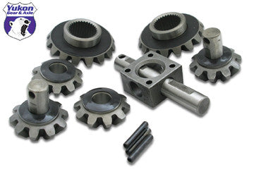 "Yukon standard open spider gear kit for 9"" Ford with 31 spline axles and 4-pinion design. Yukon uses higher quality materials and better techniques than OEM to ensure a longer lasting spider gear set. All components come with a one year warranty against manufacturing defects."
