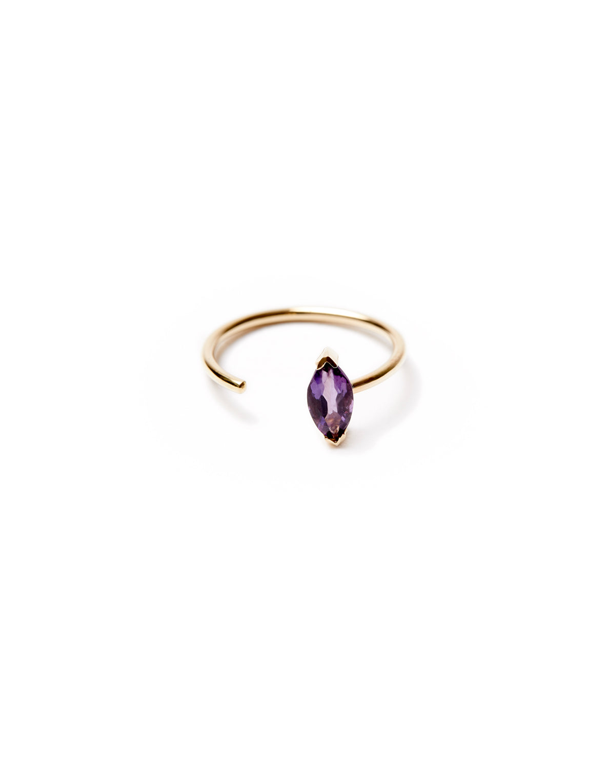 Amethyst Open Ring