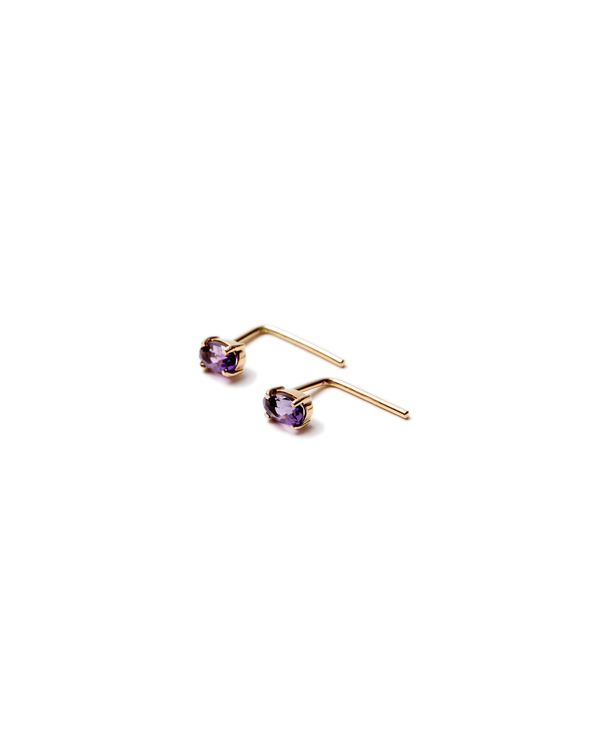 Amethyst with stone earrings