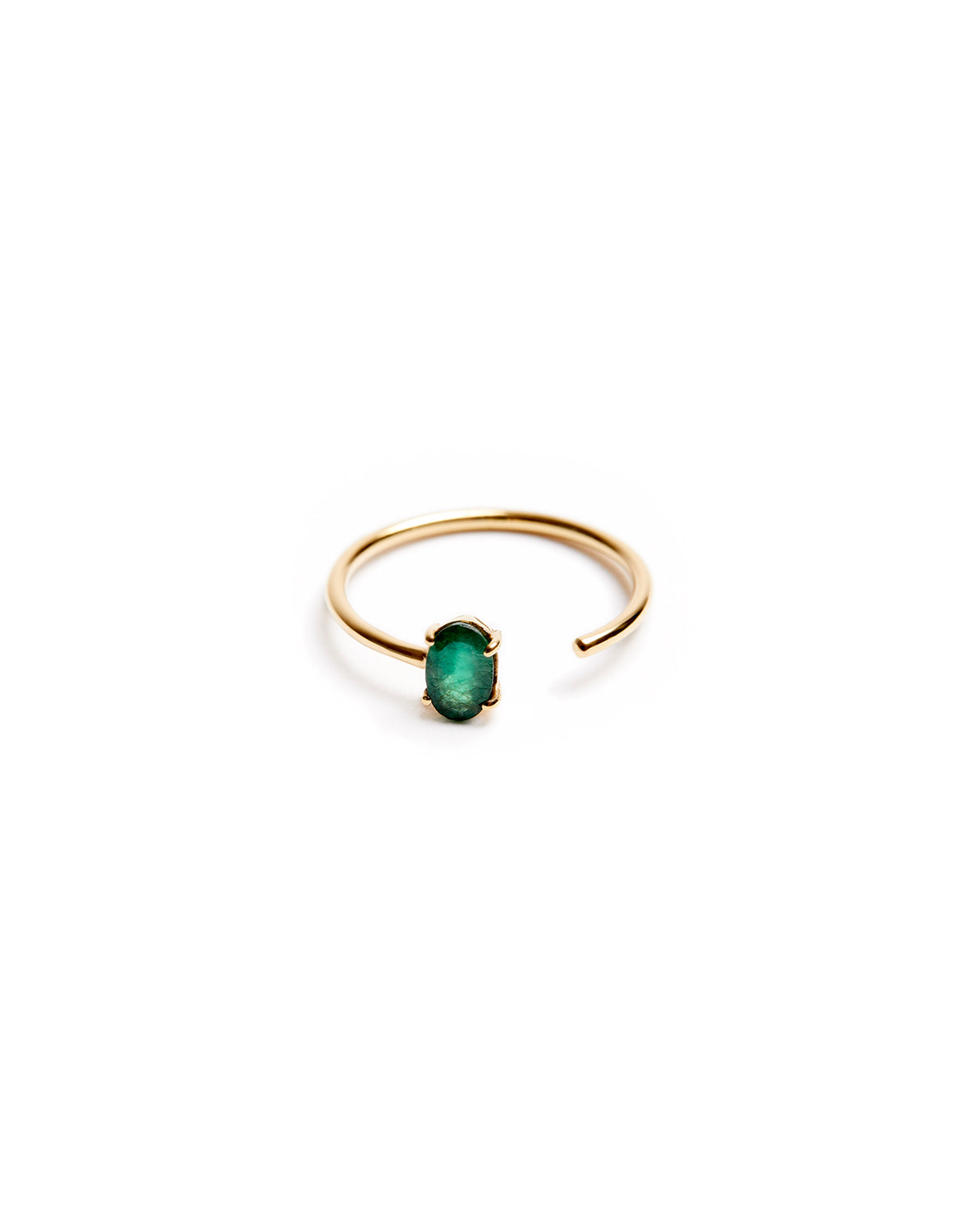 Emerald open Ring