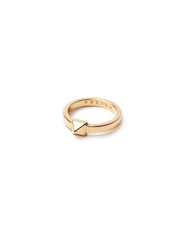 Stud gold ring
