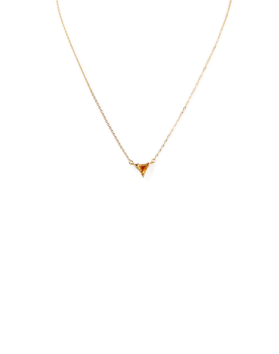 Citrine triangle pendant