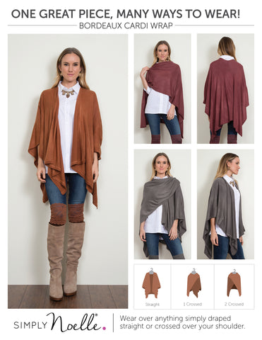 The Bordeaux Cardi Wrap by Simply Noelle