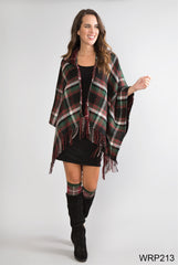 Simply Noelle Plaid to Meet you Hooded Wrap