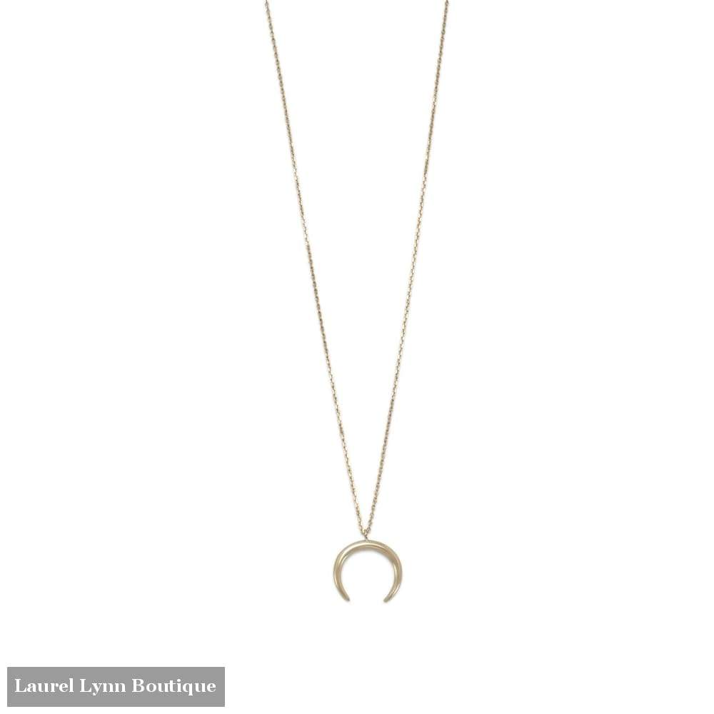 14 Karat Gold Plated Crescent Necklace - Laurel Lynn Collection - Blairs Jewelry & Gifts