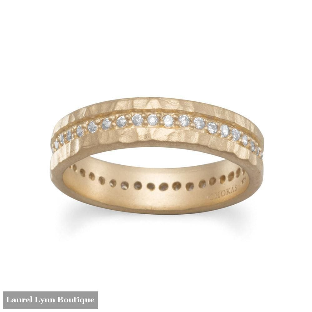 14 Karat Gold Plated CZ Eternity Ring - LE1293-9 - Liliana Skye