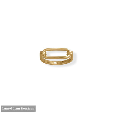 14 Karat Gold Plated Paperclip Ring - 83878-9 - Liliana Skye