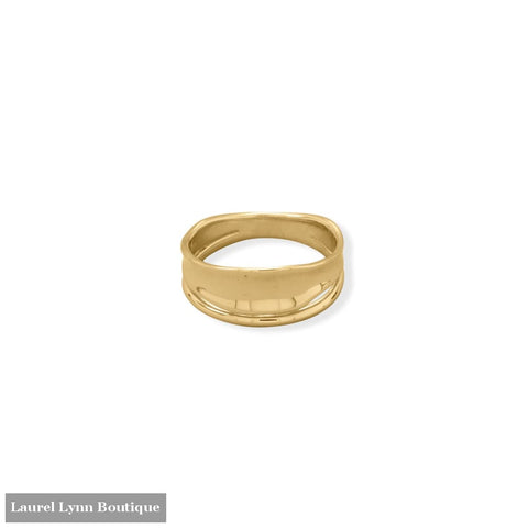 14 Karat Gold Plated Split Design Ring - 83873-9 - Liliana Skye