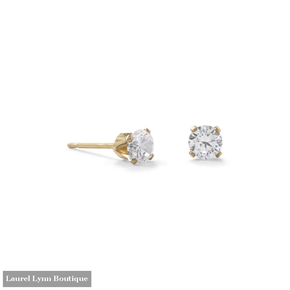 14/20 Gold Filled 4Mm Cz Stud Earrings - Liliana Skye - Blairs Jewelry & Gifts