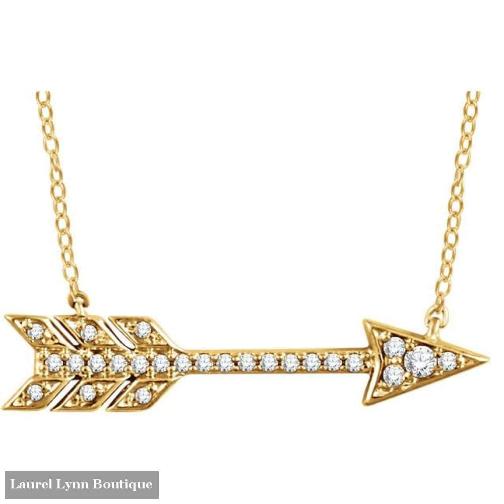 14K Diamond Arrow Necklace - Stuller - Blairs Jewelry & Gifts