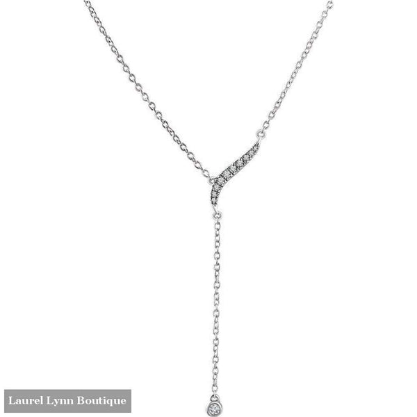 14K Diamond Y-Necklace - 14K White - 652841 - Stuller - Blairs Jewelry & Gifts