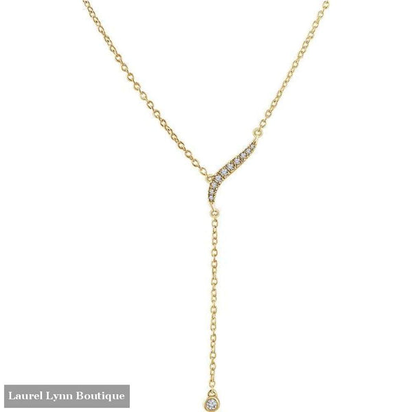 14K Diamond Y-Necklace - 14K Yellow - 652841 - Stuller - Blairs Jewelry & Gifts